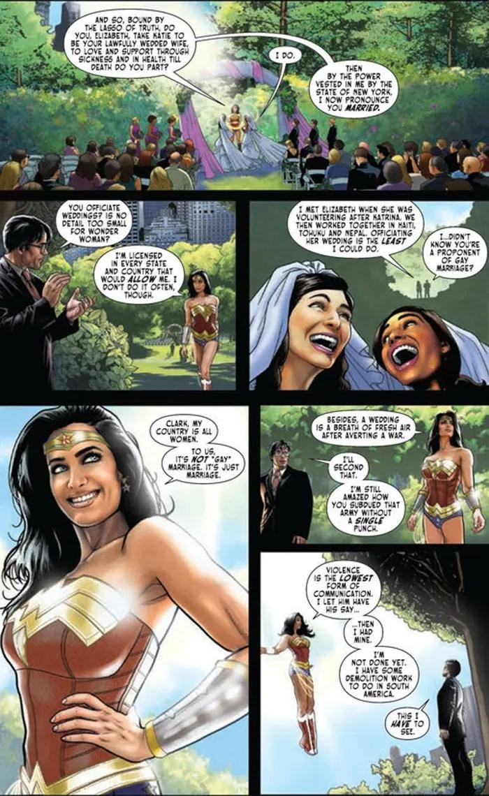 Mujer Maravilla matrimonio homosexual