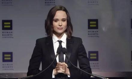 Ellen Page recibe el premio Vanguard de HRC