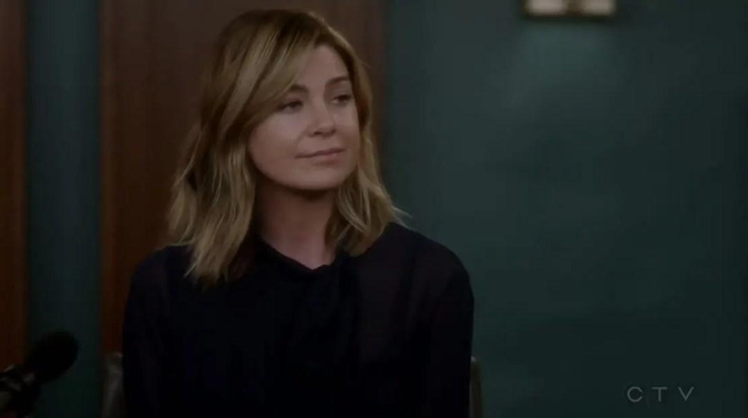 Meredith testificando