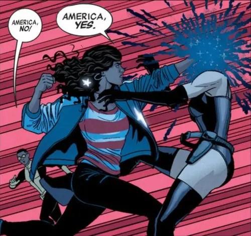 """""""¡América, no!"""" """"¡América, sí!"""" (Vía princessamericachavez.tumblr.com)"""