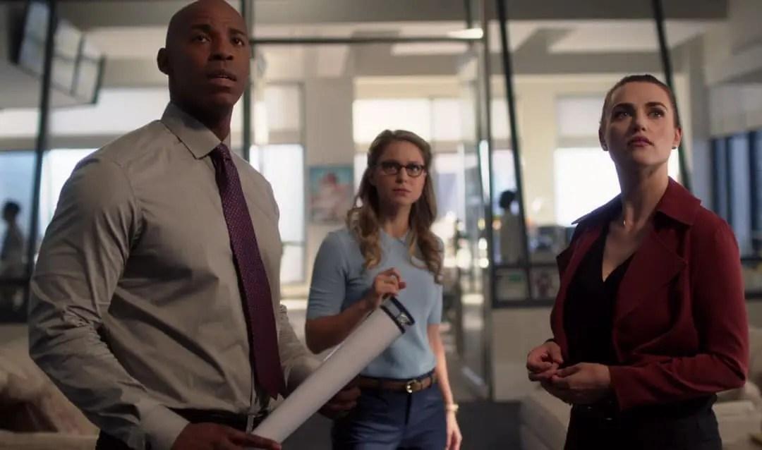 Kara, Lena y James en Supergirl