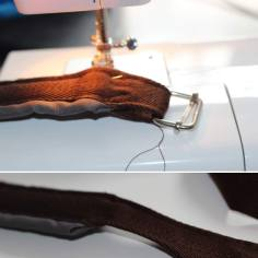 Placing the strap adjusters