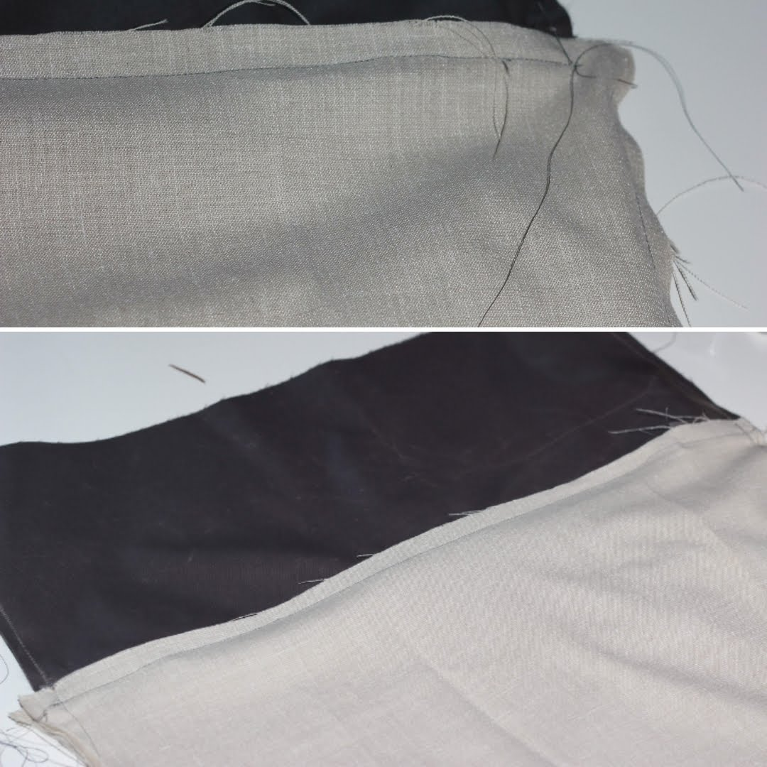 fixing the top and the lining to the backpack