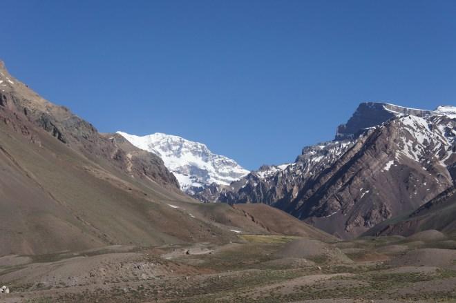 Un dernier coup d'œil à l'Aconcagua avant de partir
