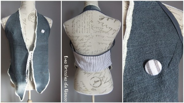 Haut customisation  jean en gilet