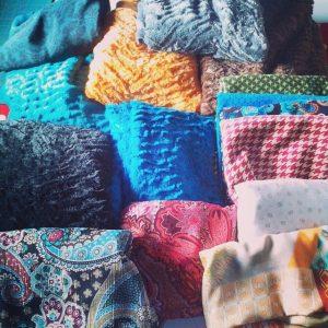 tissus coton voile de coton et tout doux