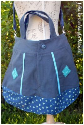 sac jean bleu coton