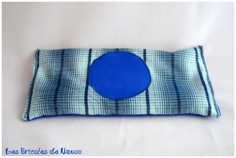 Bouillottinette bleue à rayures