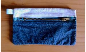 Porte monnaie bleu fonce et bleu ciel