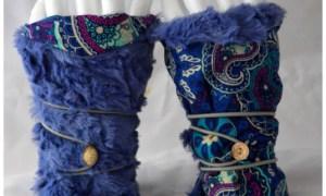 Mitaines réversibles bleues