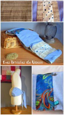 Bouillotte ceinture bleue