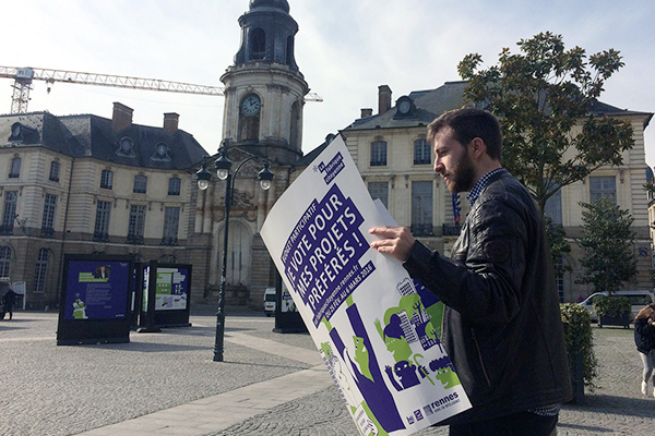 Rennes, exemple de communication autour du Budget participatif