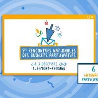 Rencontres nationales des Budgets participatifs de Clermont-Ferrand 2020