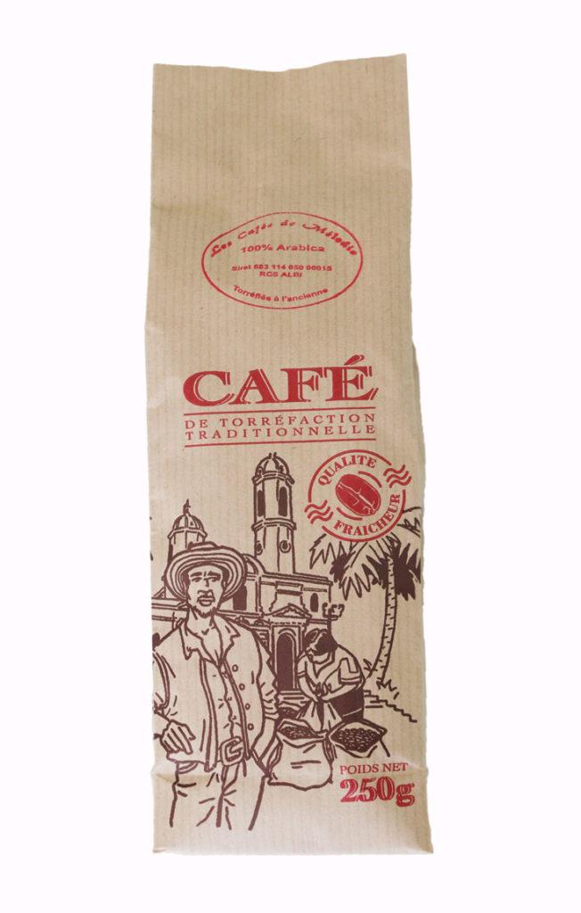 Paquet de 250g de café