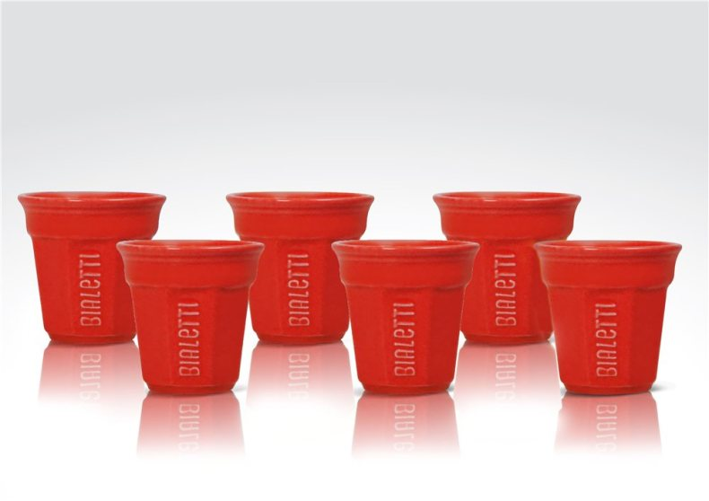 Tasses rouges Bialetti
