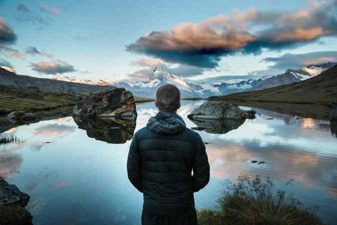 montagne calme homme