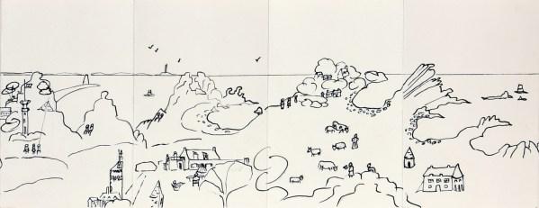 Le Tour de l'île de Bréhat A COLORIER