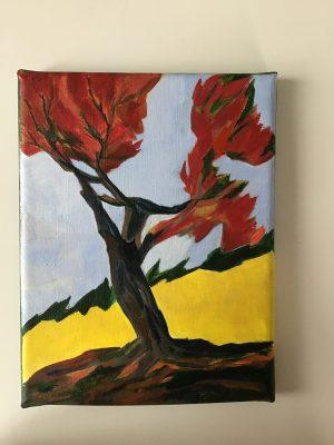 L'arbre rouge- Catherine Riviere - 2021