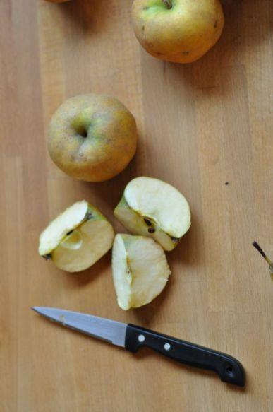 Pommes découpées