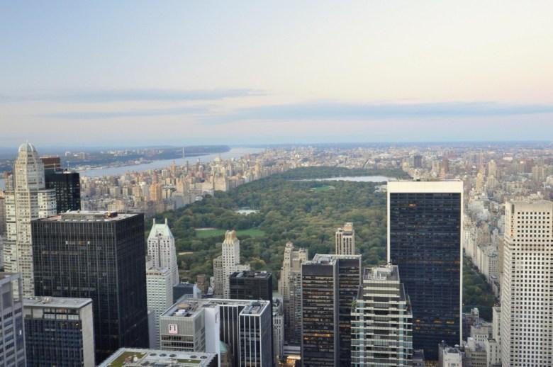 Central Park à New York, depuis Top of the Rock