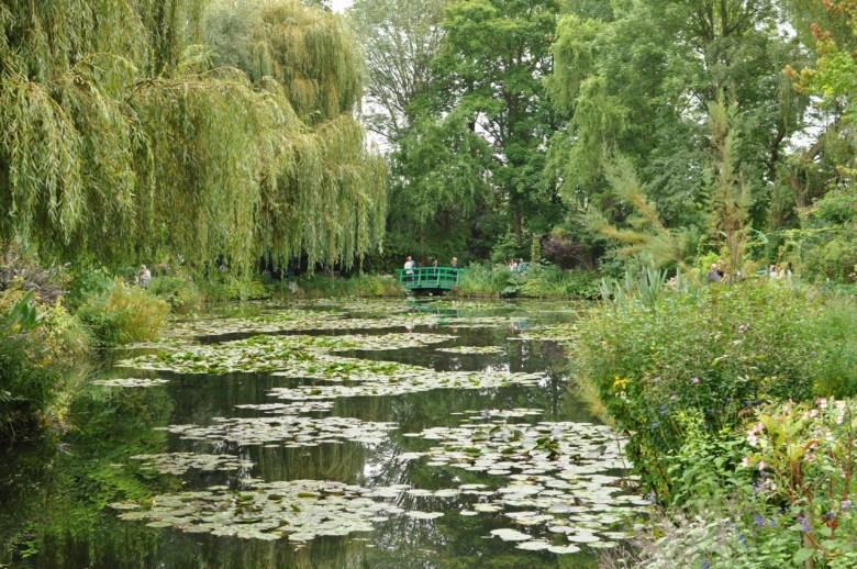 Le pont des jardins de Monet à Giverny