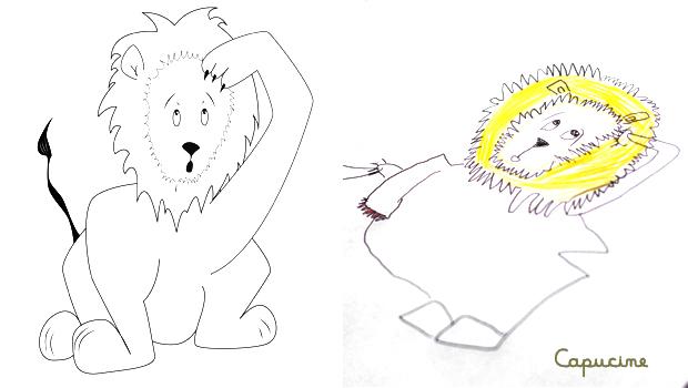 comment dessiner un lion les carnets de c leste. Black Bedroom Furniture Sets. Home Design Ideas