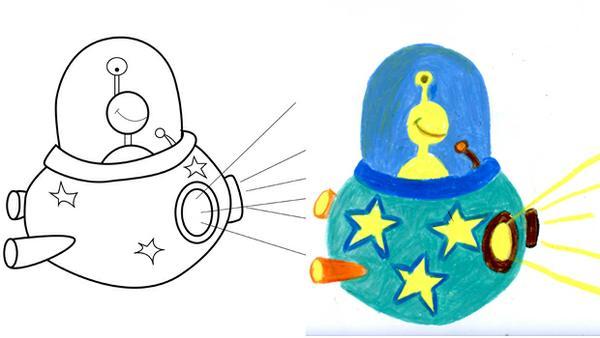 Apprendre a dessiner etape par etape archives les - Soucoupe volante dessin ...