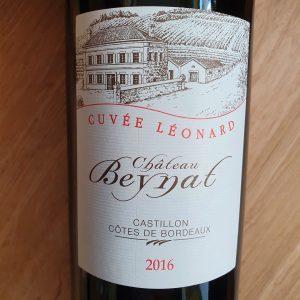 Cuvée Léonard de Château Beynat – Castillon Côtes de Bordeaux 2016