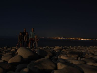 Ballade nocturne sur la plage