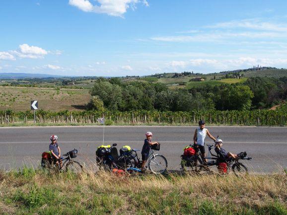 Sur la route en Toscane