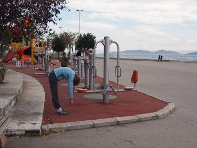 Un petit peu d'exercice en arrivant à Istanbul