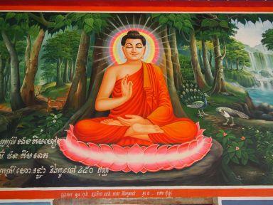 Fresque dans la pagode