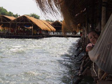 La sieste dans la fraicheur du Mékong