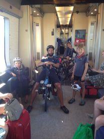 Dans le train pour le Danemark, trop facile!