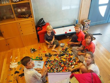 Ah les Lego entre amis ...
