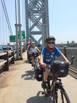 Sur le pont Georges Washington