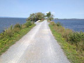 Derniers jours aux USA en traversant le lac Champlain par une ancienne voie ferrée