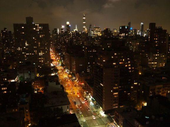 Manhattan à notre arrivée