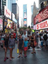 Avec Mia et Maureen des amies de Montpellier, nous déambulerons dans Times Square