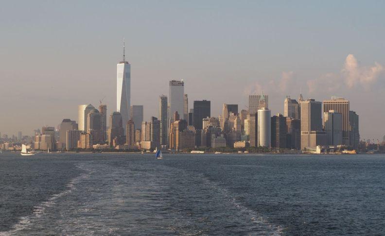 la Skyline de Manhattan vue du Sud