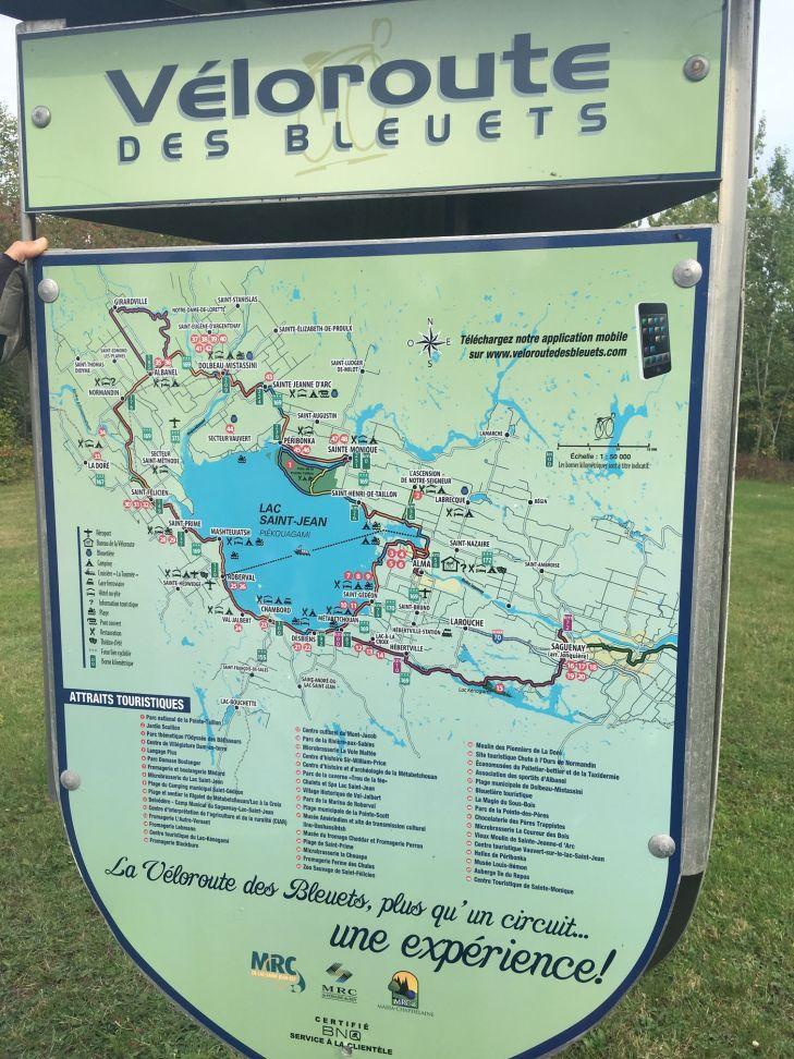 Magnifique véloroute des bleuets autour du lac St-Jean