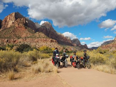 Sur le seul trail accessible à vélo
