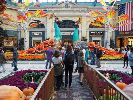 Les hotels-casinos ont chacun leur style et mise en scène spectaculaire. Ici le Bellagio