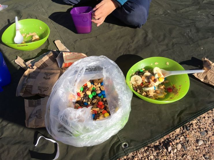 le carburant des cyclistes : trail mix.