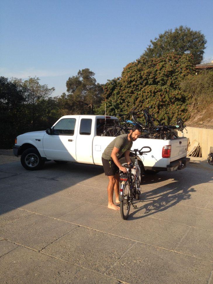 Chargement des vélos