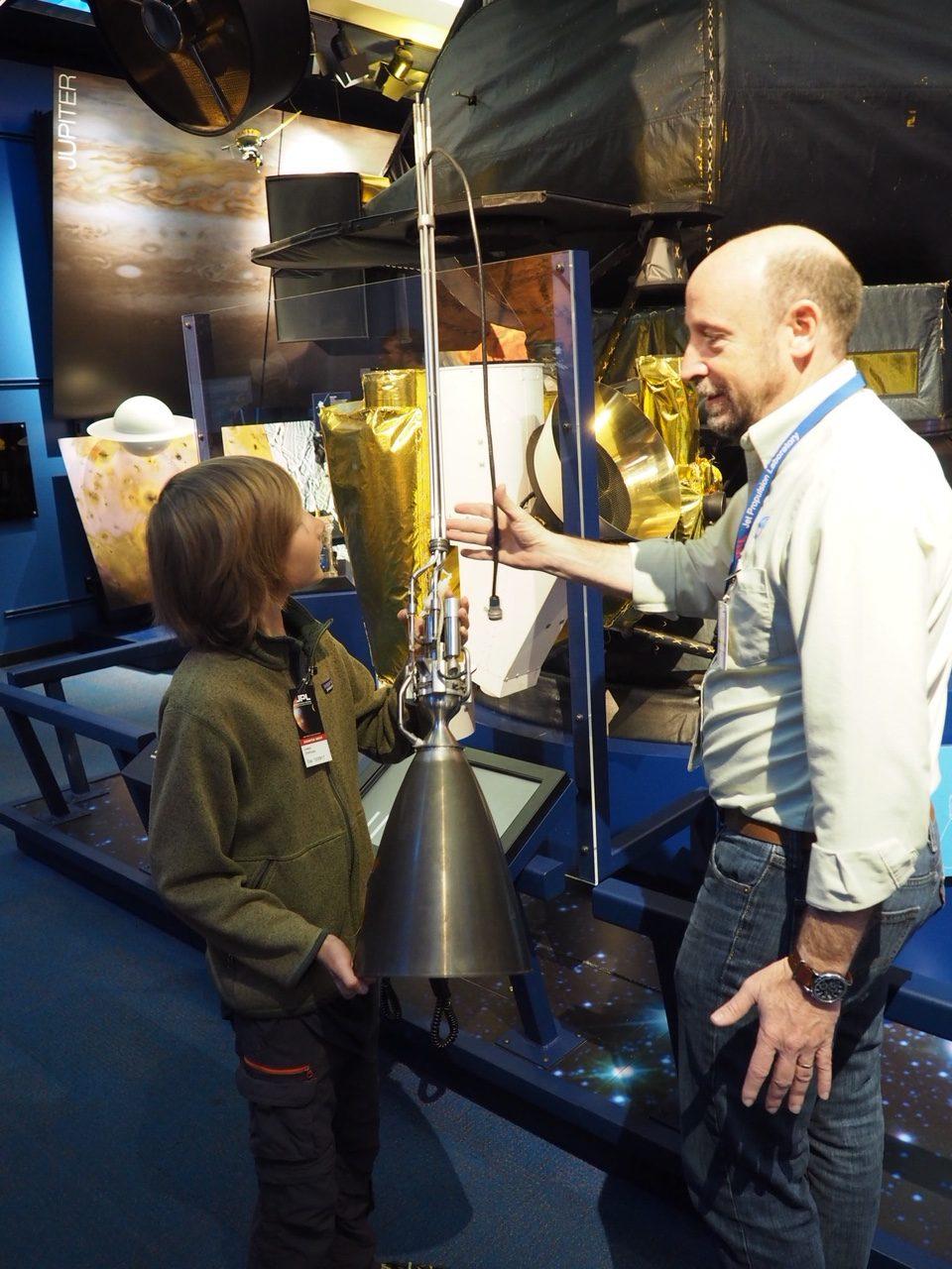 La tuyère de la sonde spatiale Galiléo