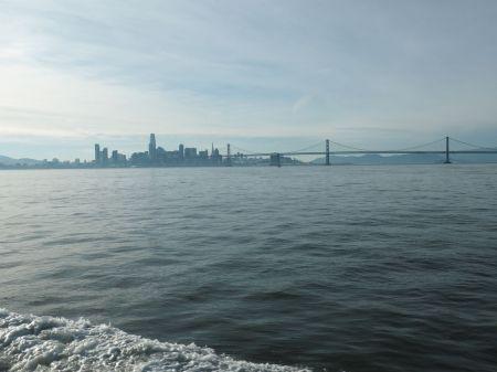 Arrivée en ferry à San Francisco