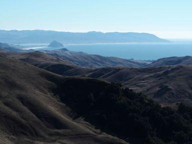 Au fond le rocher de Morro Bay