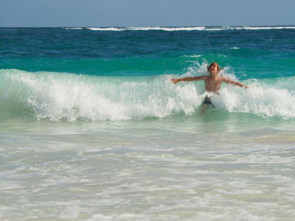 du soleil, de l'eau chaude, des vagues : TVB !