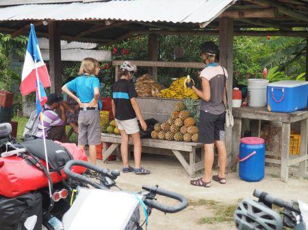Pause fruit banane-papaye-ananas